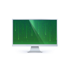 Binary computer code of matrix on computer screen vector