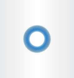 blue circle abstract background sign vector image