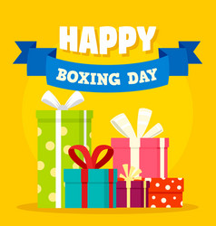 boxing day concept background flat style vector image