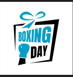 boxing day sale letter for banner web banner vector image
