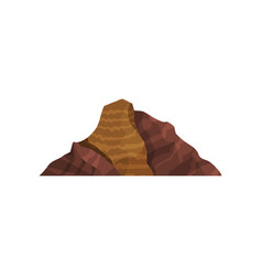Brown mountain outdoor design element nature vector