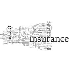 Cheap car insurance factors that affect your car vector