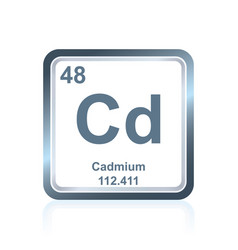 chemical element cadmium from the periodic table vector image