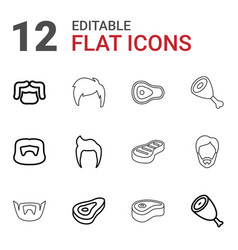 Chop icons vector