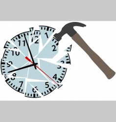 clock pieces vector image