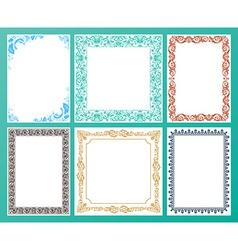 color set Ornate frames and vintage scroll vector image vector image