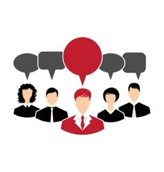 Concept of leadership dialog speech bubbles vector