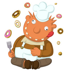 Crazy cook vector