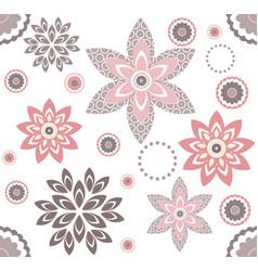 decorative pattern with elegant floral elements vector image