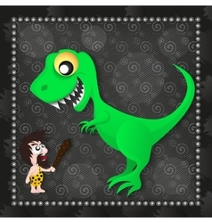 Dinosaur prehistoric age vector