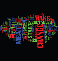 Eliminate red meat text background word cloud vector