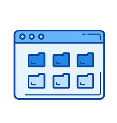 folders line icon vector image