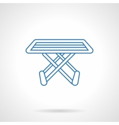 Folding drying rack flat line icon vector image vector image