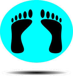 Foot print icon vector