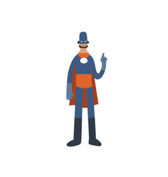 funny superhero cartoon man character vector image