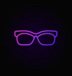 glasses colored outline icon sunglasses vector image