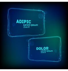 glowing frames against dark background vector image