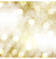 Golden Bokeh vector image
