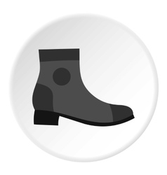 Grey boot icon flat style vector image
