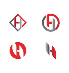 H letter logo template design vector
