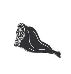 Ham glyph icon vector