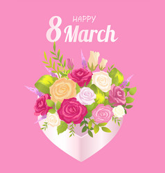 happy 8 march decoration vector image