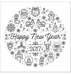 Happy New Year 2017 template Elegant vector image