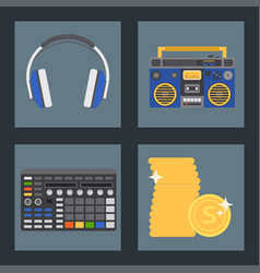 hip hop accessory musician instruments vector image