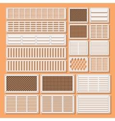 Horizontal ventilation shutters vector