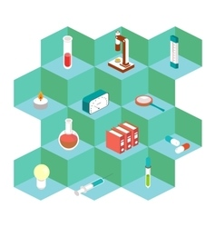 Isometric medical icons For the design of vector