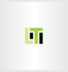lt letter l t logo icon vector image