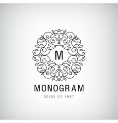 Luxury monogram vintage logo icon vector