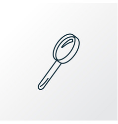 magnifying glass icon line symbol premium quality vector image