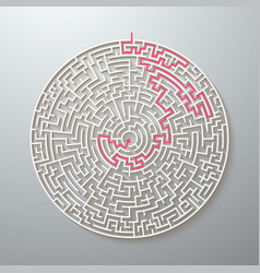 maze icon labyrinth puzzle with solution vector image vector image