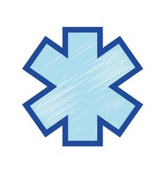 medicine sign to emergency emblem symbol vector image