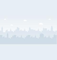 Modern urban landscape flat vector