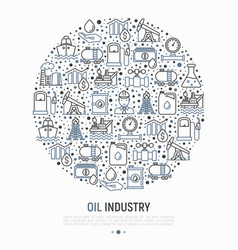 oil industry concept in circle vector image