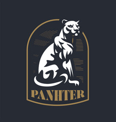Panther sitting on its hind legs vector