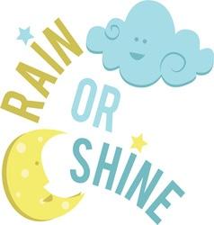 Rain Or Shine vector image