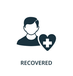 Recovered icon simple from coronavirus collection vector