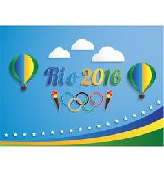 Rio 2016 games balloons vector