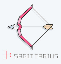 Sagittarius sign vector