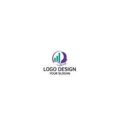 smart invest logo design vector image