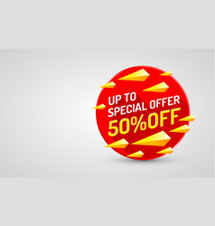 Special offer sale off banner set collection vector