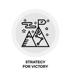 Strategy For Victory Line Icon vector