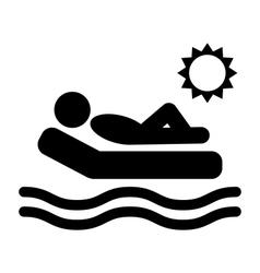 Summer Relax Sunbathing Pictograms Flat People vector image
