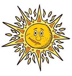 sun on white vector image