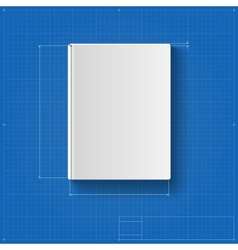 The book drawing with dimensions book cover vector