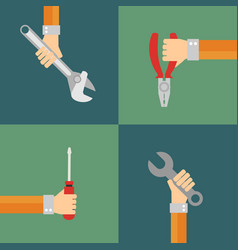 Tools set flat design style vector