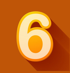 Volume icons number six vector